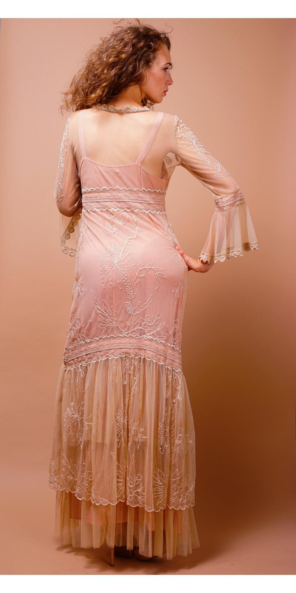 titanic wedding dress in pinkchampagne by nataya