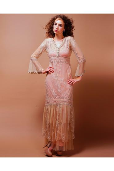 Titanic Wedding Dress in Pink-Champagne by Nataya