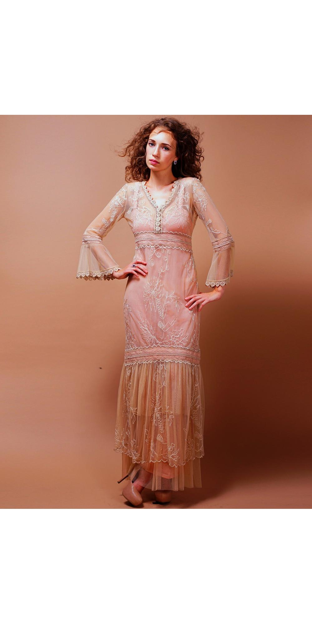 Titanic wedding dress in pink champagne by nataya for Pink champagne wedding dress