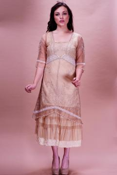 Nataya Titanic Dress AL-2101 in Butter