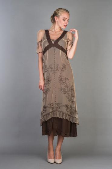 Nataya 40007 New Titanic Dress in Milk Coffee