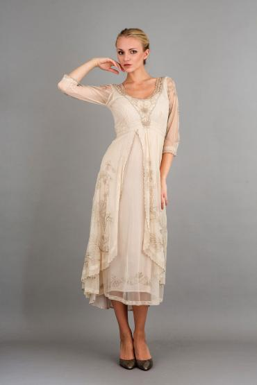 Nataya 40163 Downton Abbey Tea Party Gown Pearl