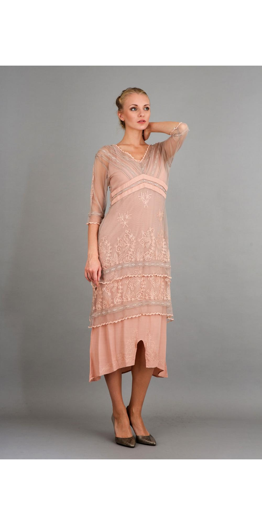Plus Size Tea Length Dresses With Sleeves