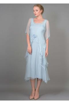 Nataya 10709 Great Gatsby Dress in Blue - SOLD OUT