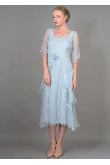 Nataya 10709 Great Gatsby Dress in Blue
