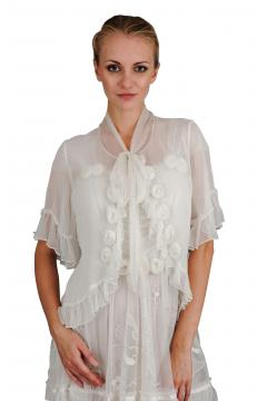 Vintage Inspired Top in Ivory by Nataya