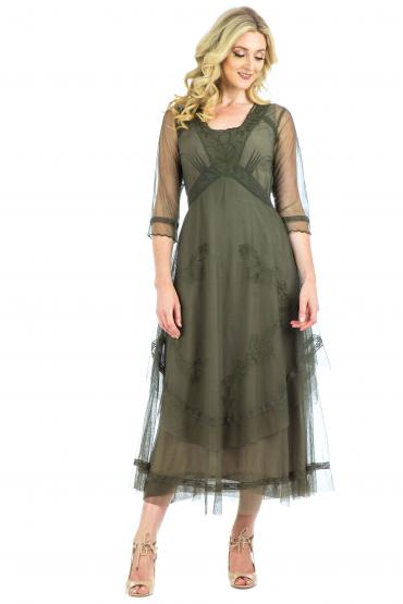Nataya CL-163 Party Dress in Olive