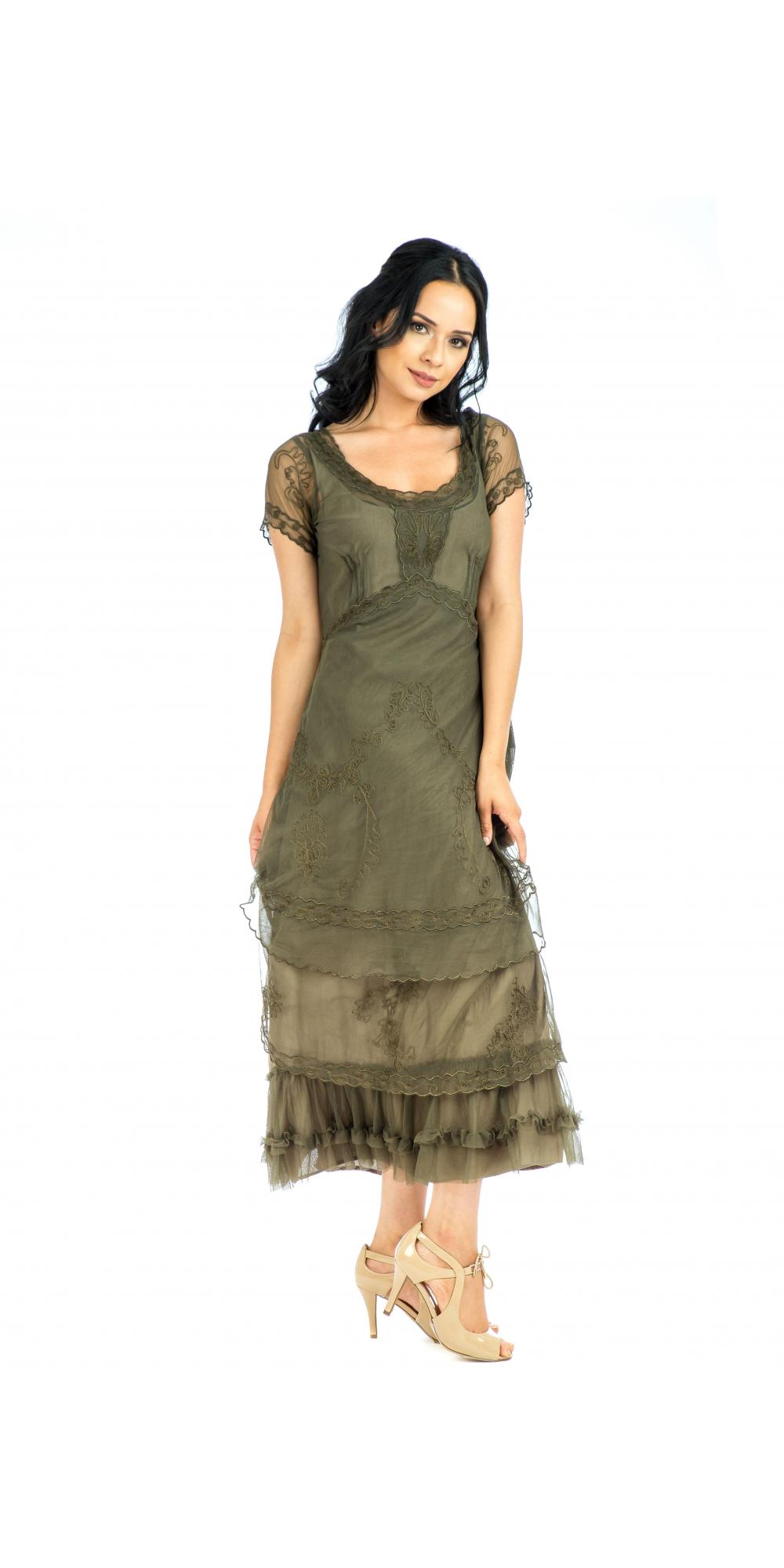 Olive Party Dress