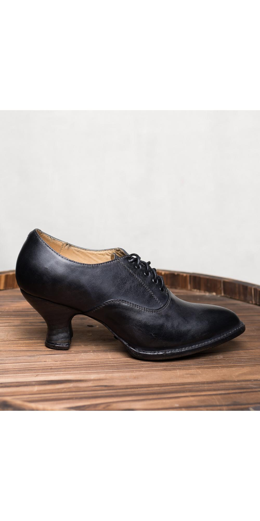 Victorian Style Shoes In Black Rustic