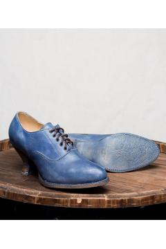 Victorian Style Shoes in Steel Blue
