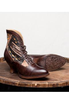 Victorian Style Boots in Brown Rustic