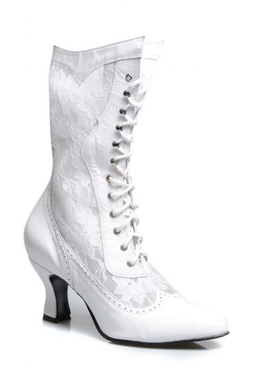 Victorian Inspired Boots in White