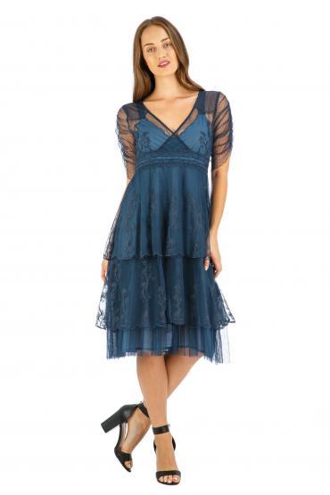 Age of Love Nataya AL-237 Party Dress in Indigo