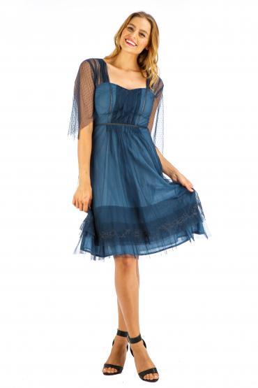 Age of Love Nataya AL-245 Party Dress in Indigo