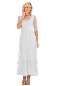 True Romance Nataya CL-201 Party Dress in Ivory