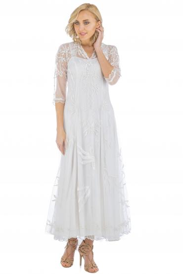 Nataya CL-2149 Vintage Style Wedding Dress in Ivory