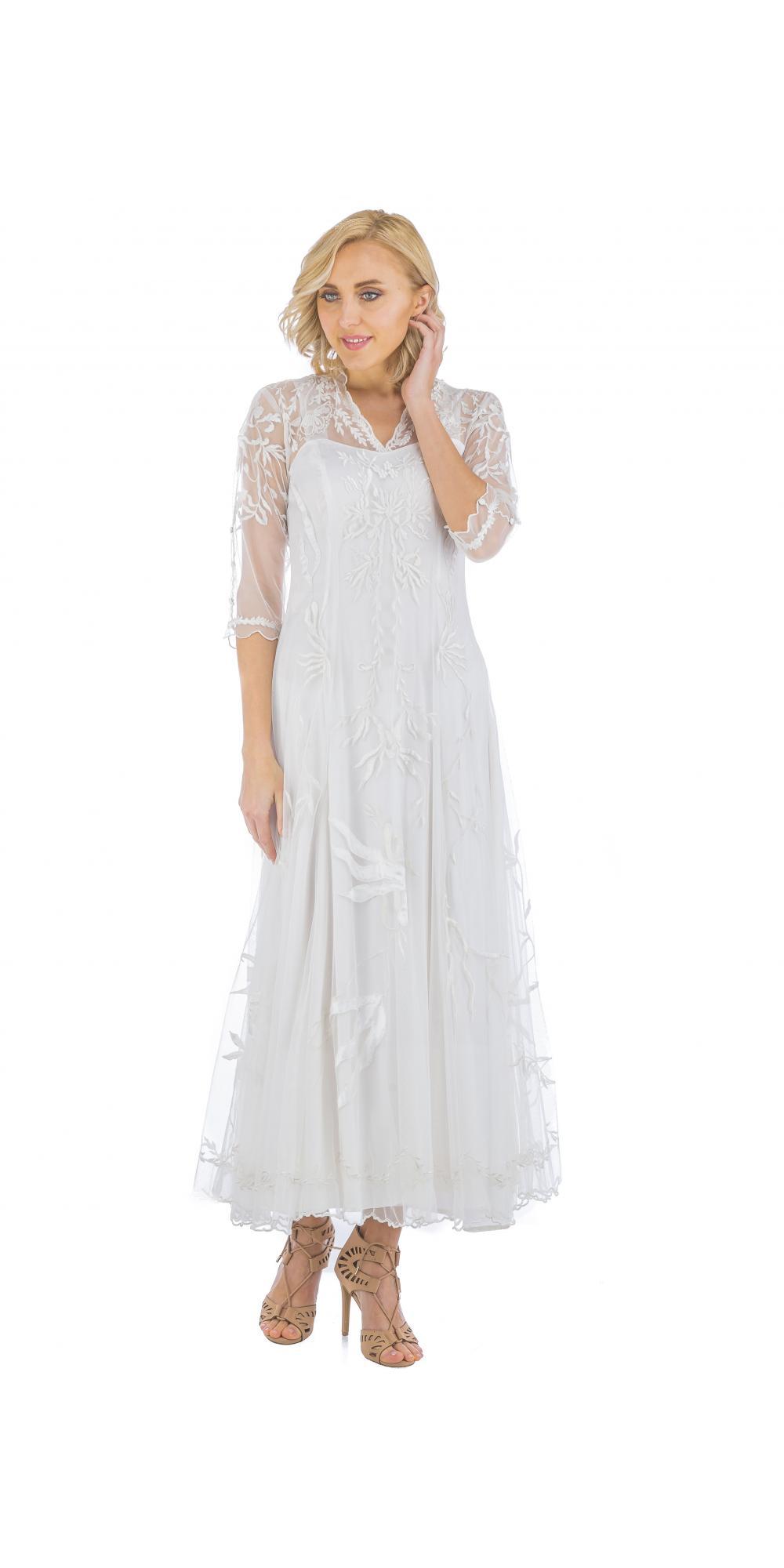 True Romance Nataya CL-2149 Vintage Style Wedding Dress in Ivory