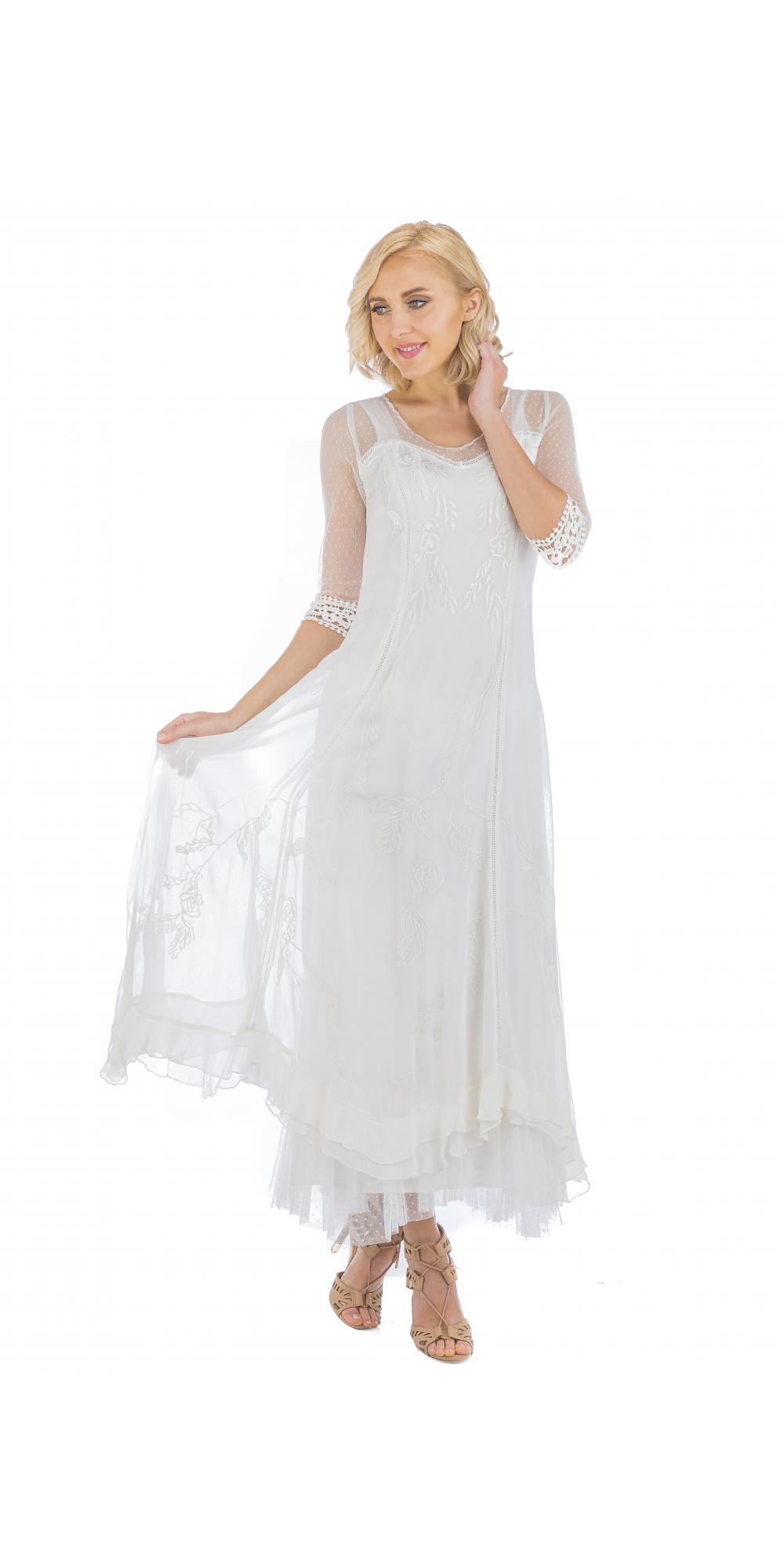 True romance nataya cl 068 vintage style wedding dress in for Vintage ivory wedding dresses