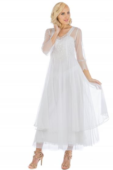 Nataya CL-075 Vintage Style Wedding Dress in Ivory