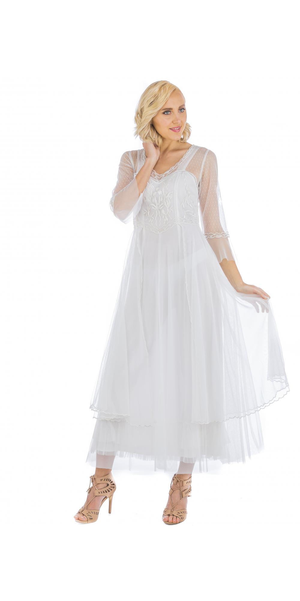 True romance nataya cl 075 vintage style wedding dress in for Vintage ivory wedding dresses