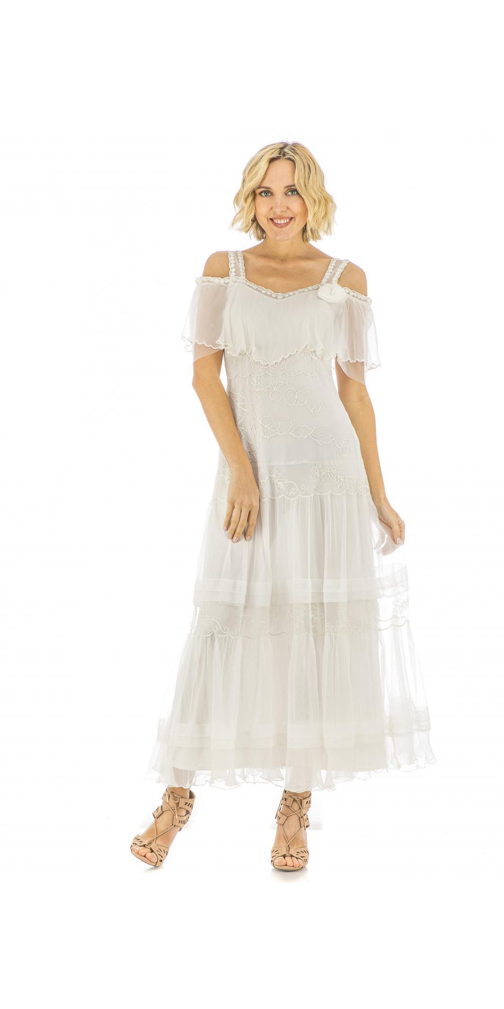 Nataya 40271 vintage style wedding dress in ivory for Vintage ivory wedding dresses