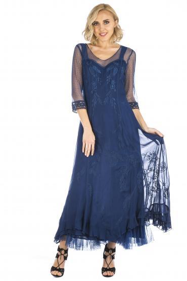 Nataya CL-068 Vintage Style Wedding Dress in Royal Blue