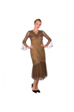 Nataya 5618 Vintage Inspired Party Dress in Antique