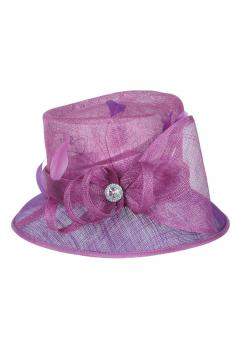 1920s Loopy Sinamay Hat in Purple