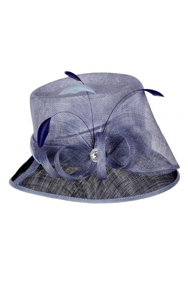 1920s Loopy Sinamay Hat in Navy