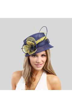 1920s Cloche Sinamay Hat Blue