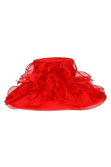 1920s Flapper Organza Hat in Red