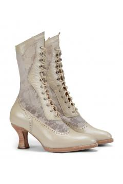 Victorian Inspired Boots in Pearl