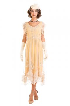 Nataya AL-284 Vintage Style Dress in Lemon