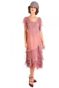 Nataya AL-283 Vintage Style Dress in Mauve
