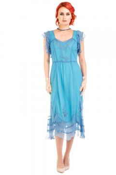 Age of Love Nataya AL-284 Vintage Style Dress in Turquoise