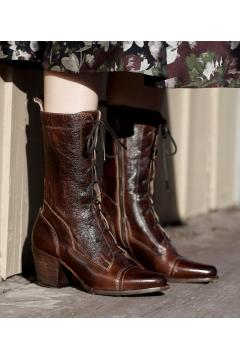 Modern Vintage Boots in Teak