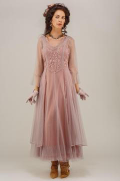 Nataya CL-075 Vintage Style Wedding Dress in Mauve