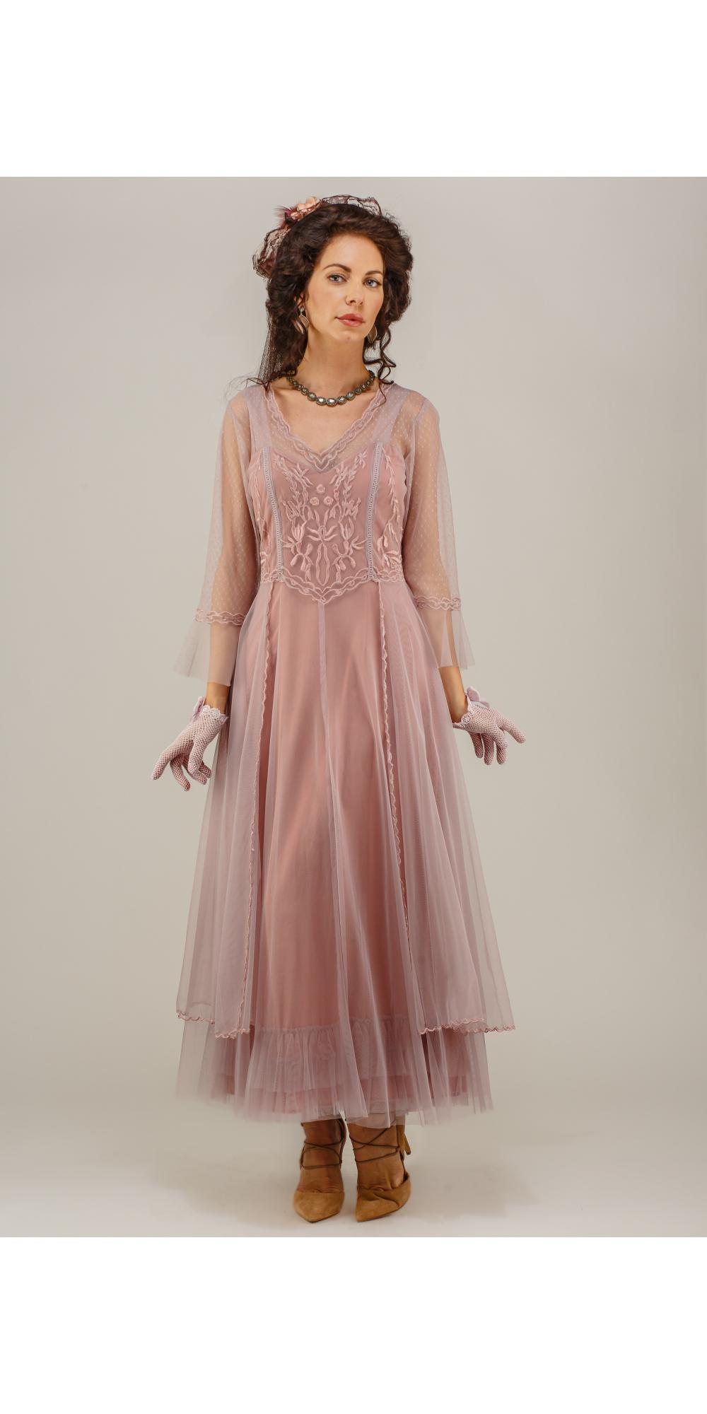 True Romance Nataya CL-075 Vintage Style Wedding Dress in Mauve