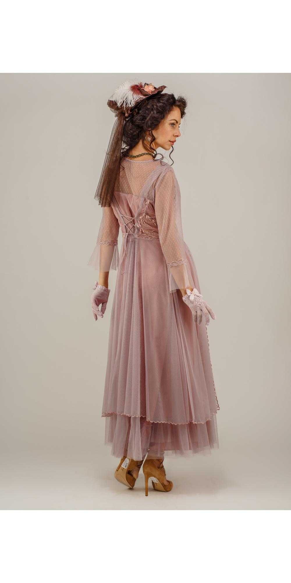 True Romance Nataya Cl 075 Vintage Style Wedding Dress In Mauve