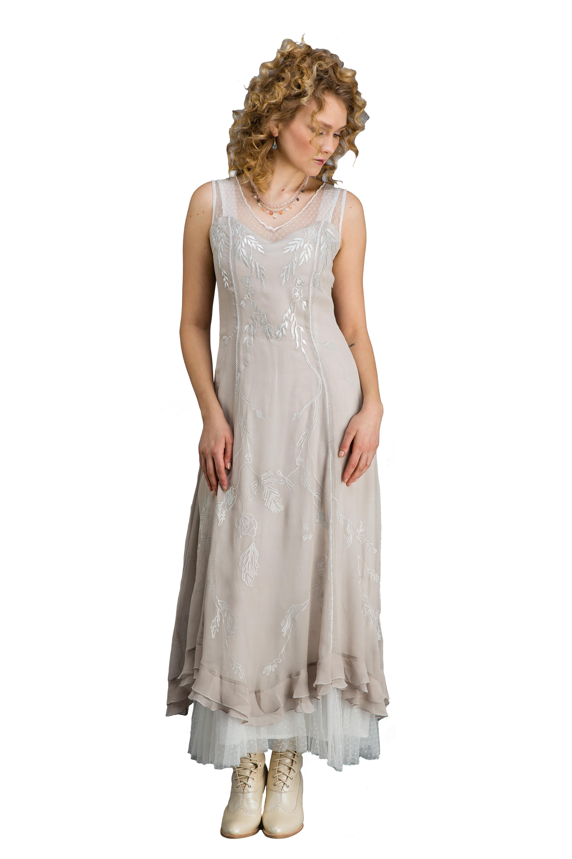 True Romance Nataya CL-069 Vintage Style Wedding Dress in Silver/Grey