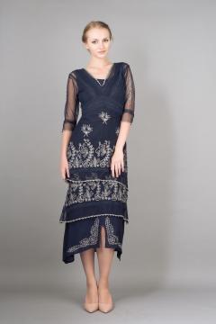 Nataya Titanic Dress 5901 in Sapphire