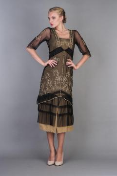 Nataya Titanic Dress AL-2101 in Black Gold