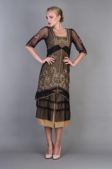 Nataya Titanic Dress AL-2101 in Black Gold
