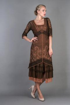 Nataya Titanic Dress AL-2101 in Terracotta