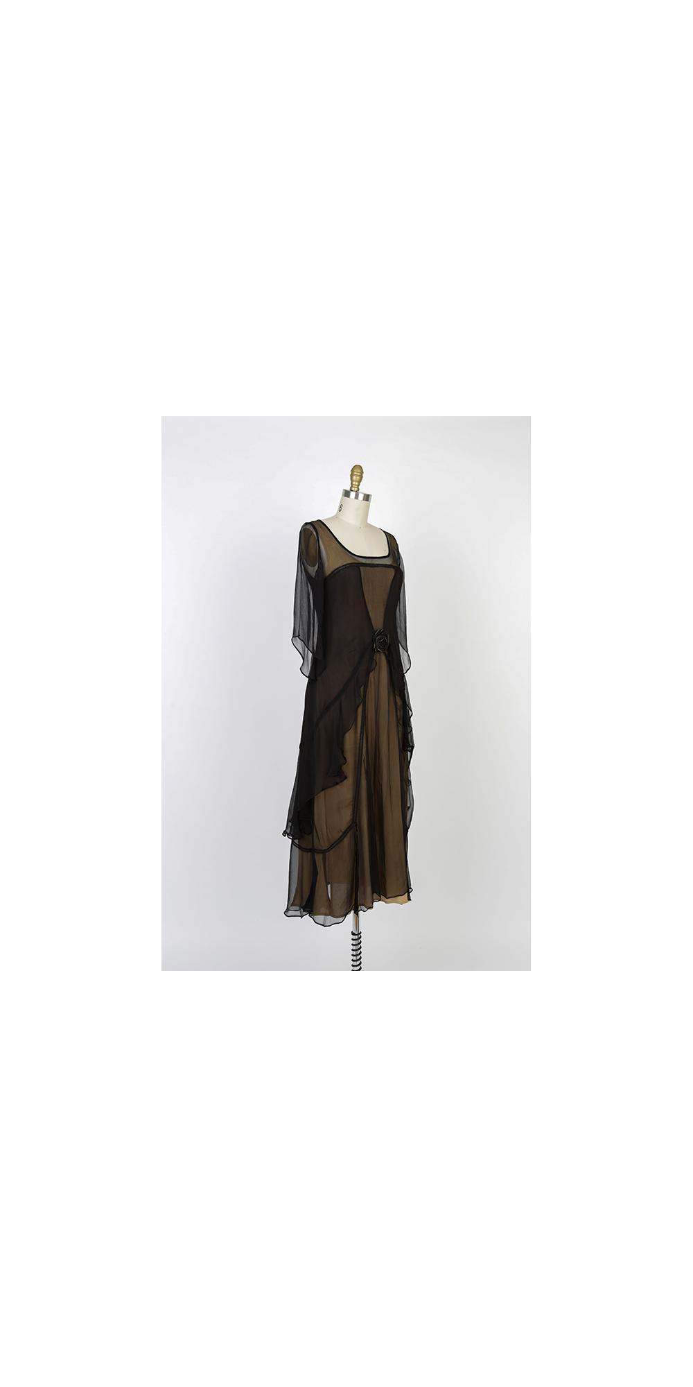 8de07d6f45 Nataya 10709 Great Gatsby Dress in Black Gold