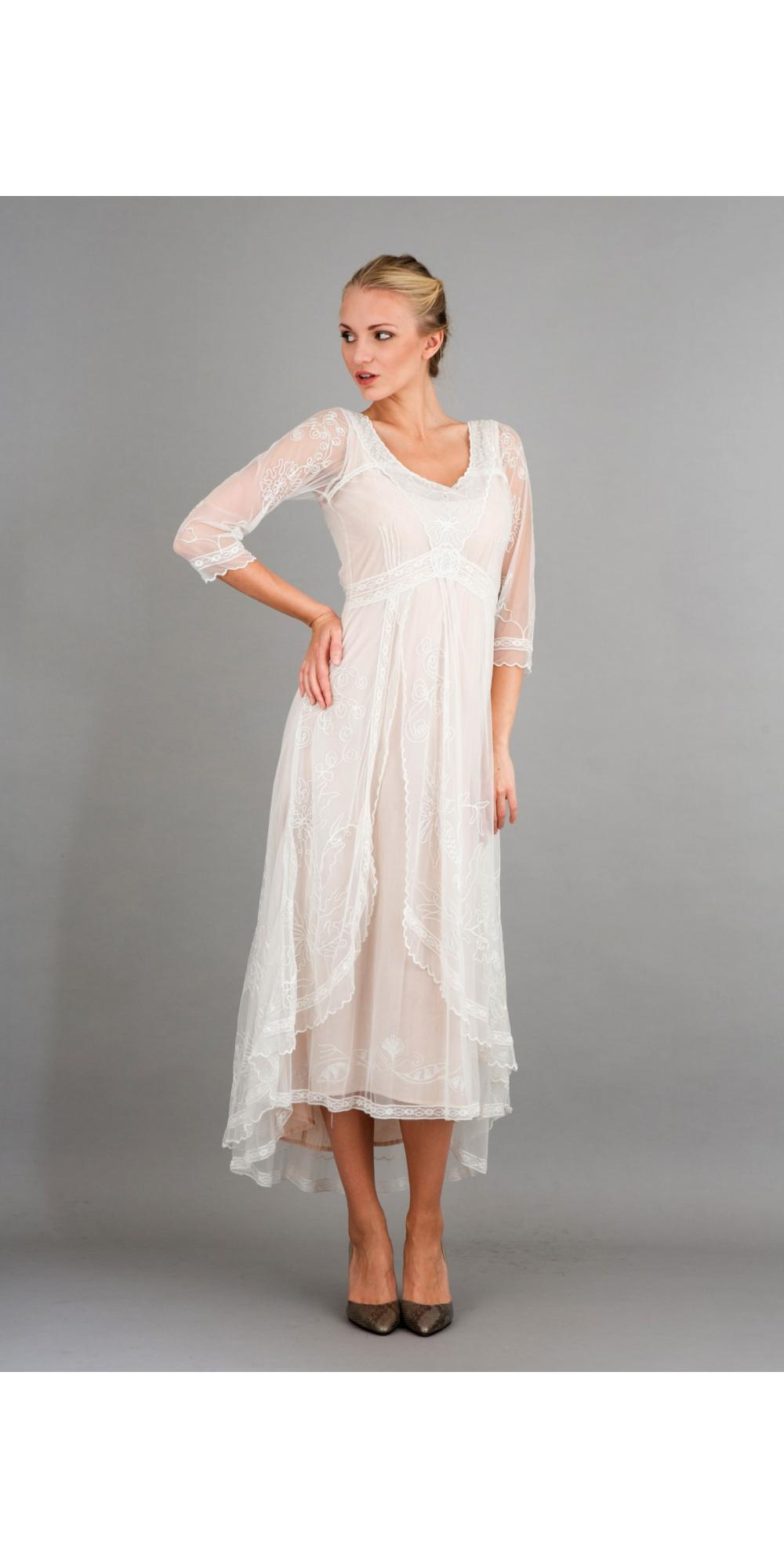 nataya 40163 downton abbey tea party gown in ivory