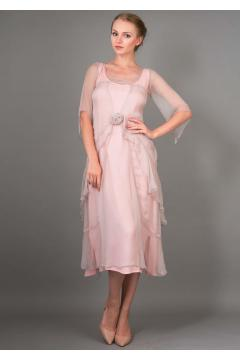 Nataya 10709 Great Gatsby Dress in Rose