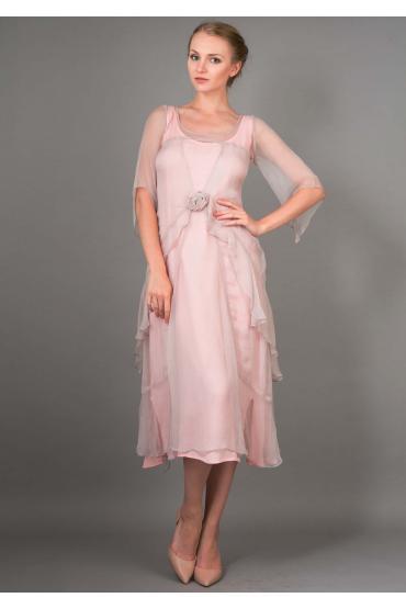 Nataya 10709 Great Gatsby Dress in Rose