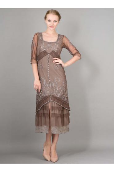 Nataya AL-2101 Titanic Dress in Chocolate