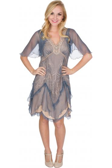Nataya AL-241 Party Dress in Sapphire
